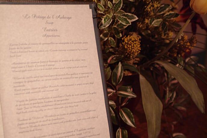 Forfait gastronomie menu La Montagne Coupée